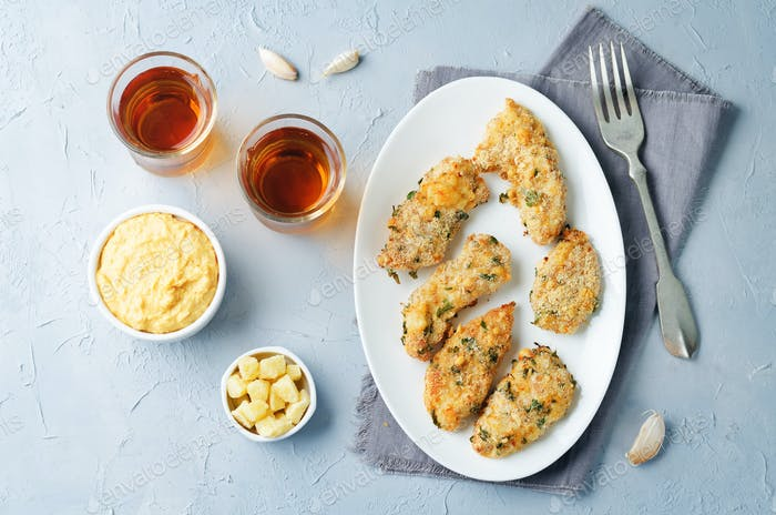 Baked Parmesan Parsley Crusted Chicken