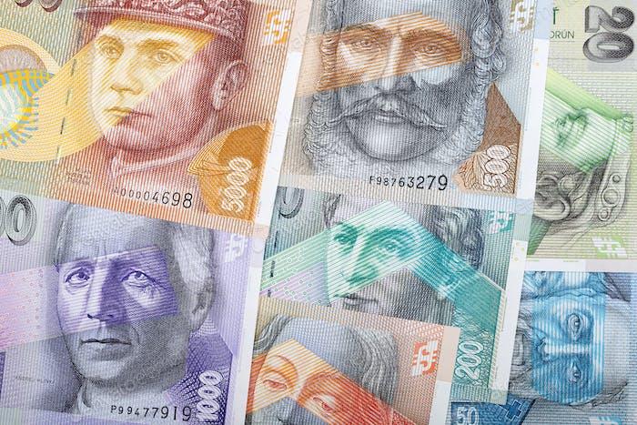 Slovak koruna, a background
