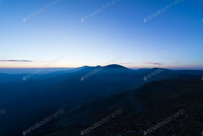Mountains at Blue Hour
