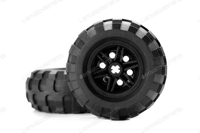 truck tire isolated