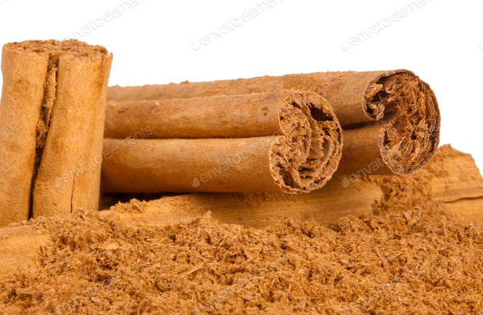 Sticks and ground ceylon cinnamon