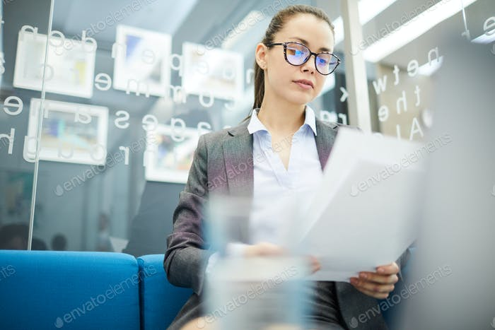 Young Businesswoman Working