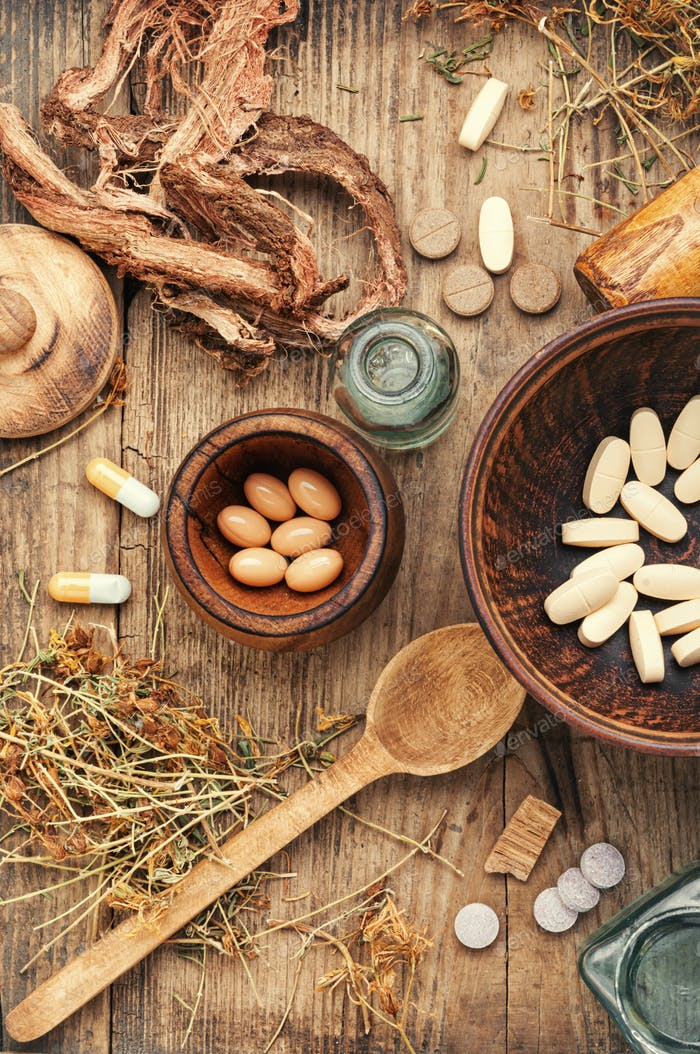 Vitamine, Tabletten und Pillen