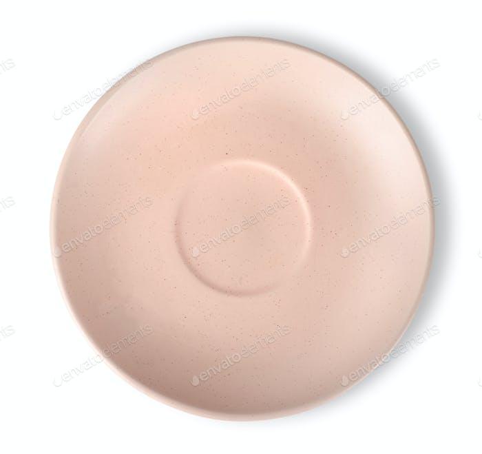 Rosafarbene Platte