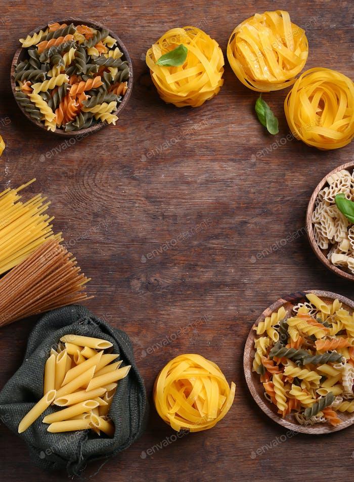 Assortment of Natural Organic Pasta