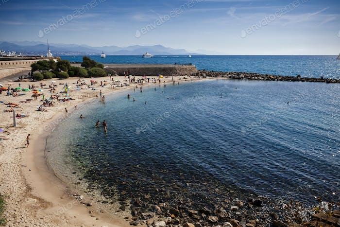 Beautiful beach in Antibes
