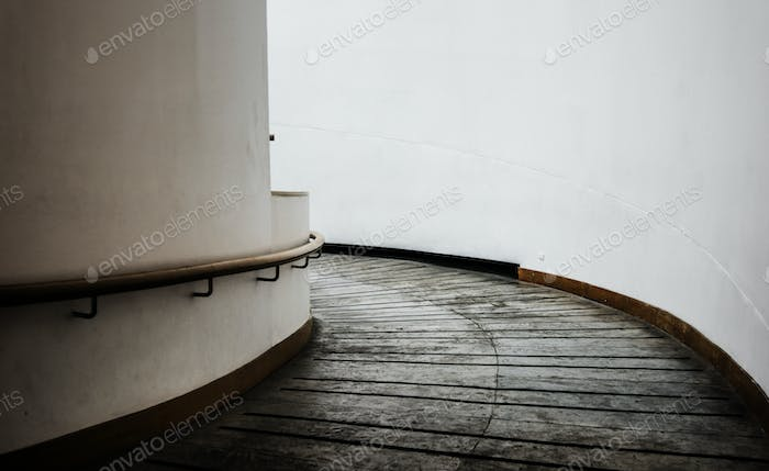 Spiral walkway in a modern building