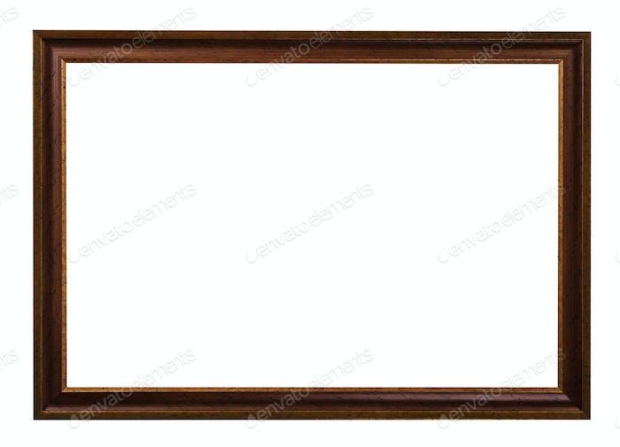 klassischer Bilderrahmen aus Holz, dunkelbraun lackiert