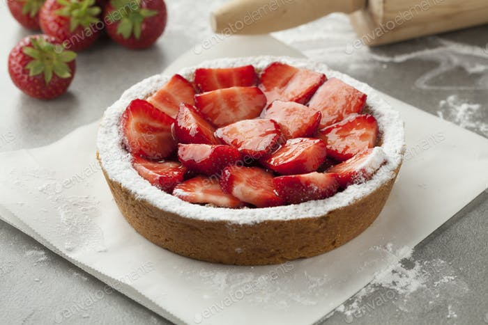 Homemade strawberry pastry