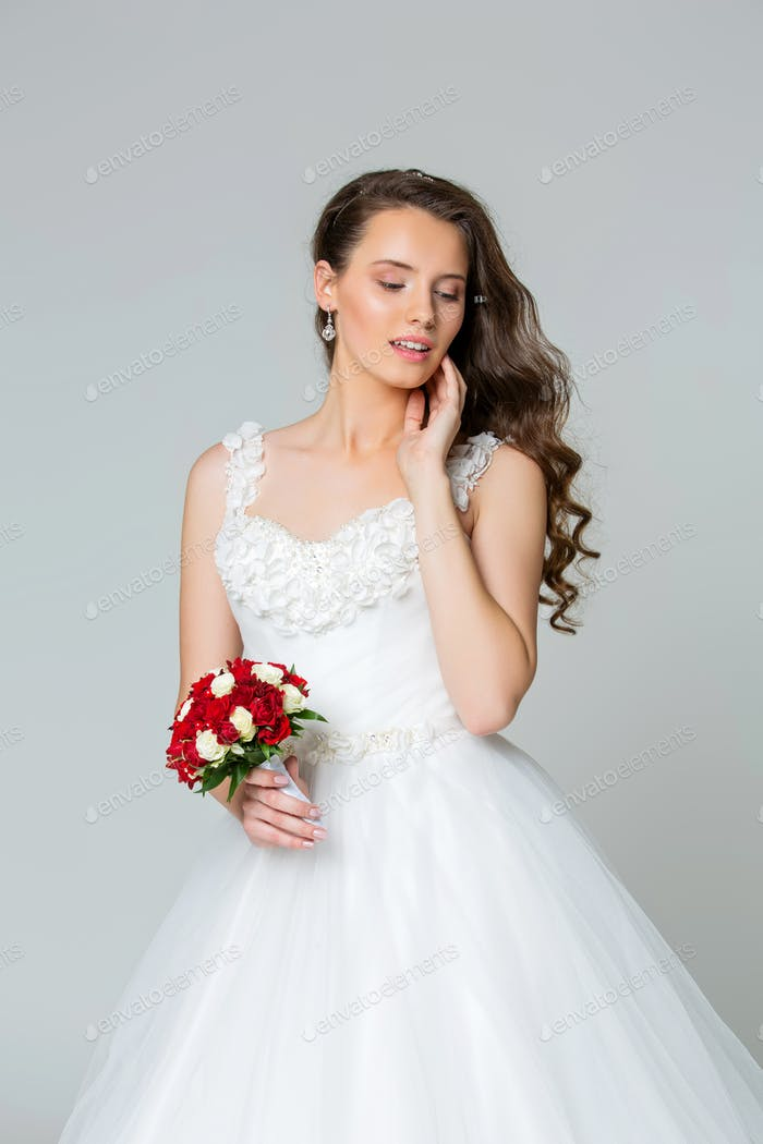 Beautiful young bride girl