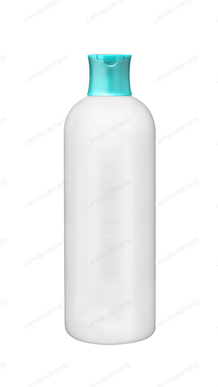 White plastic botle isolated on white background