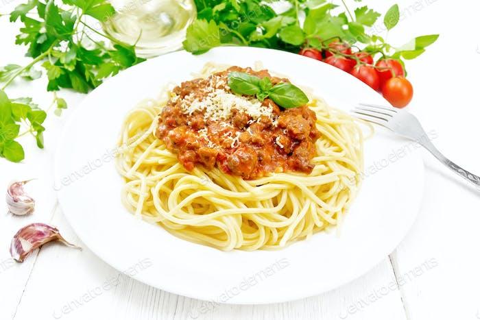 Espaguetis con boloñesa a bordo