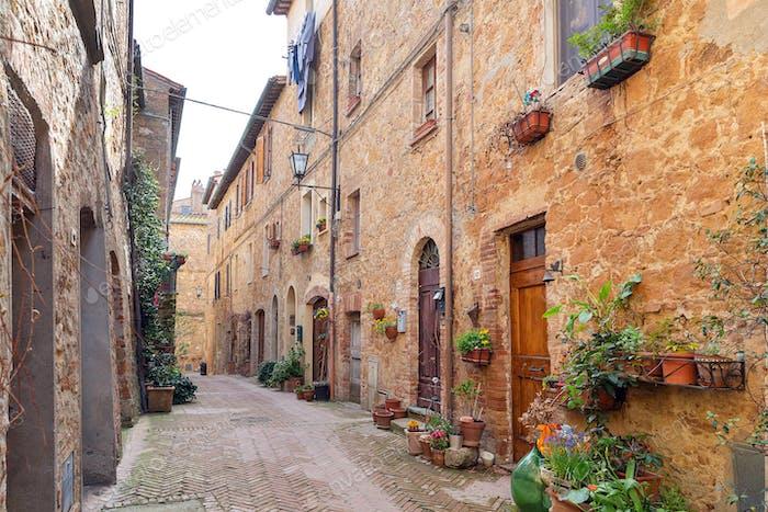 Magic streets of Pienza, Tuscany