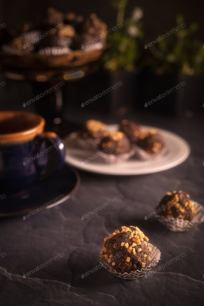 Chocolate Truffles with tea
