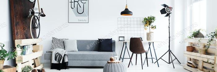 Minimalistische Wohnung für Mann