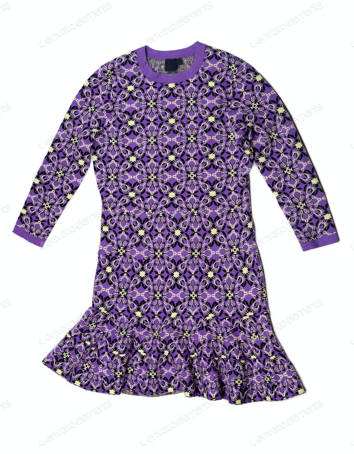 Purple dress with a pattern