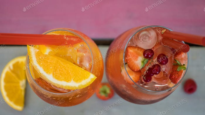 Top View Drinks