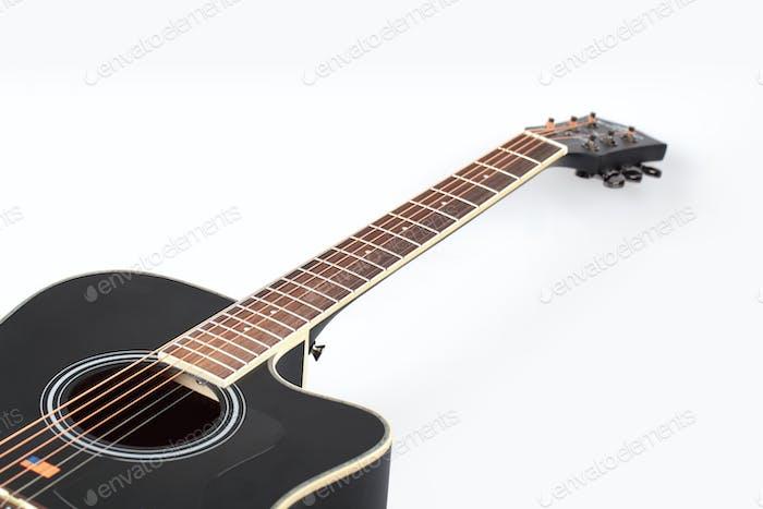 gitarre auf weiß