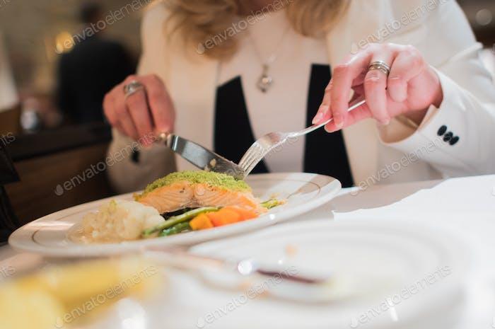 Elegant Restaurant Dinner