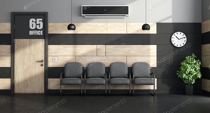 Minimalist waiting room