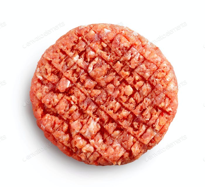 spicy raw burger meat