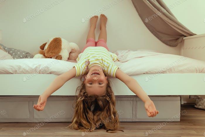 glückliche Tochter