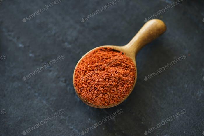 Close up of chilli powder