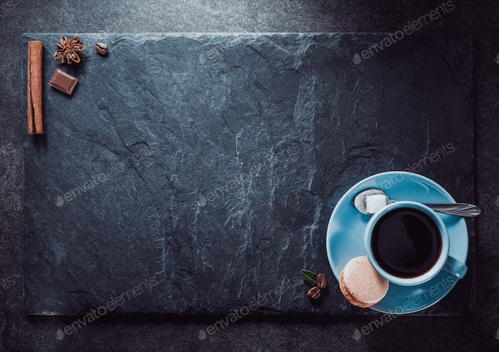 cup of coffee and slate