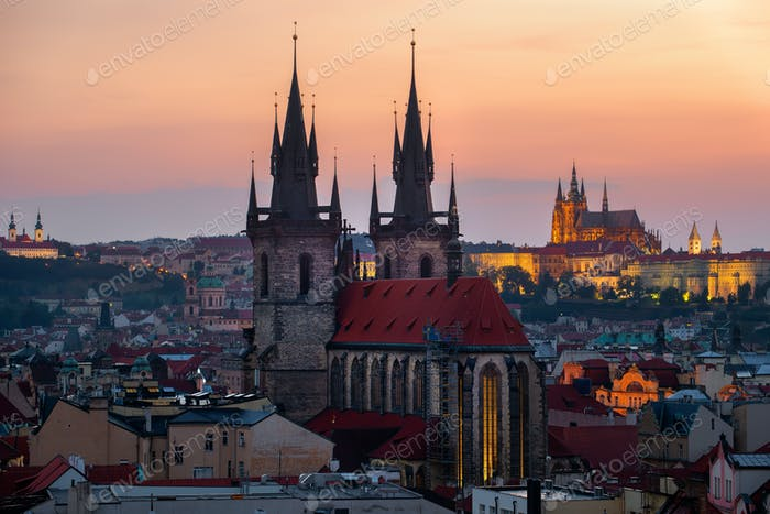 Ancient cathedrals of Prague