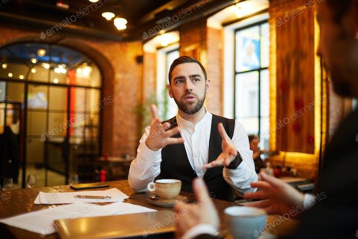 Discussion in Restaurant
