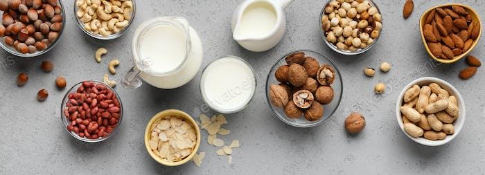 Vegan lactose free milk concept