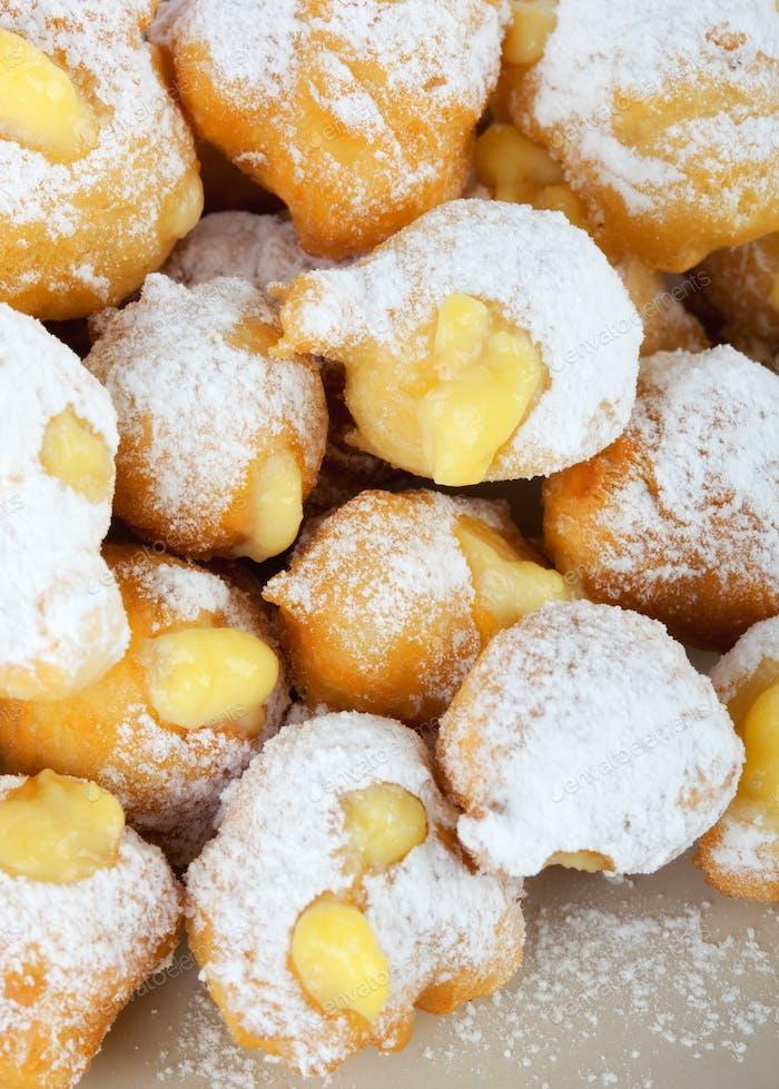 Castagnole of  italian carnival