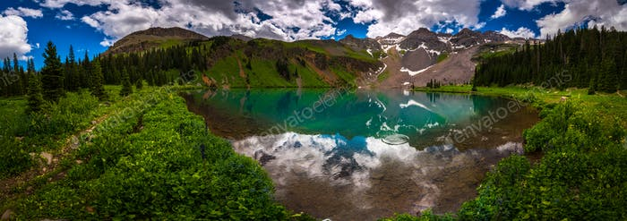 Blue Lake near Ridgway Colorado with Mountain Sneffels, Dal