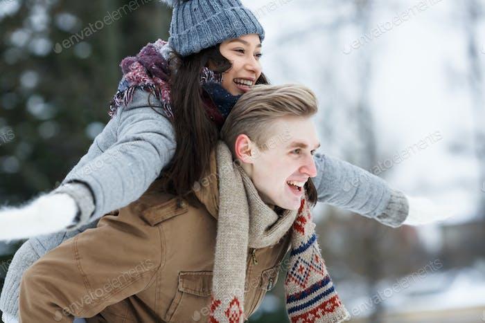 Carefree couple