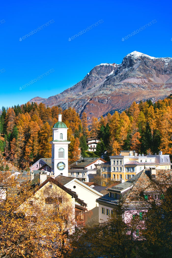 Sils maria village in the Engadine valley