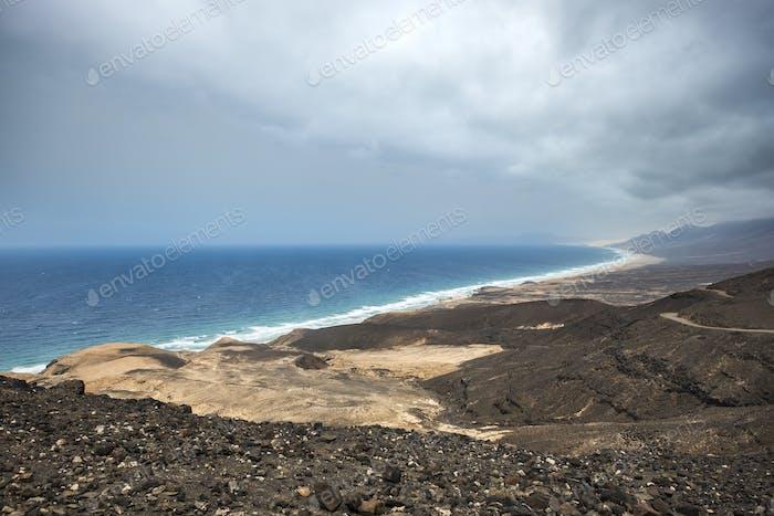Cofete al aire libre y playa en Fuerteventura