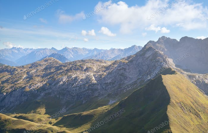rocky mountains in Austrian Alps