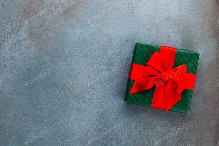 Background Xmas design, with realistic gifts box.