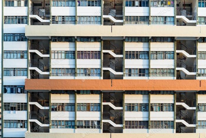 Facade of Public housing building