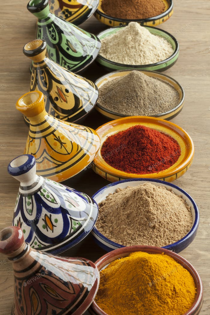 Diversity of Moroccan powder herbs