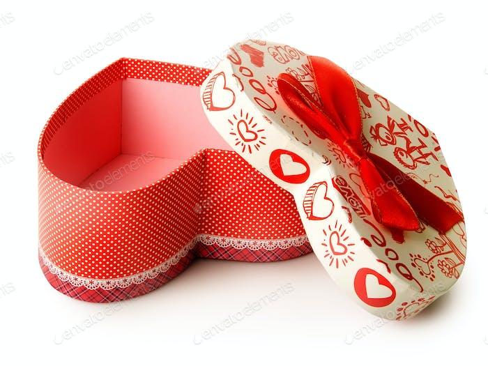 Gift box heart