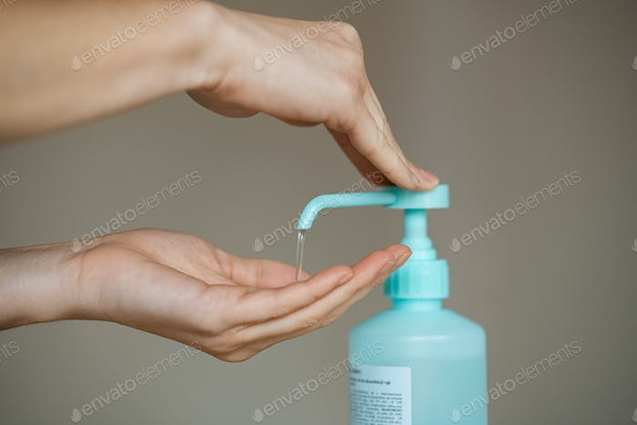 Sanitizer gel for hand hygiene