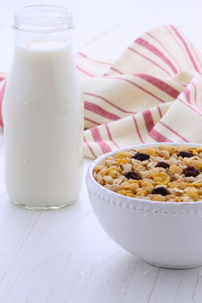 Vintage styling muesli cereal