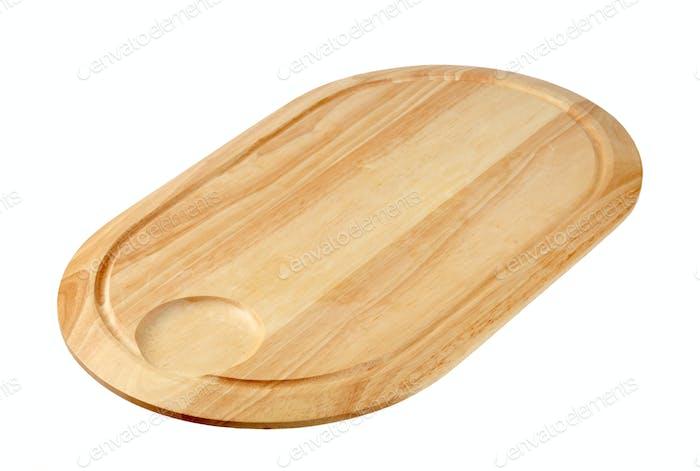 Oval-shaped cutting board