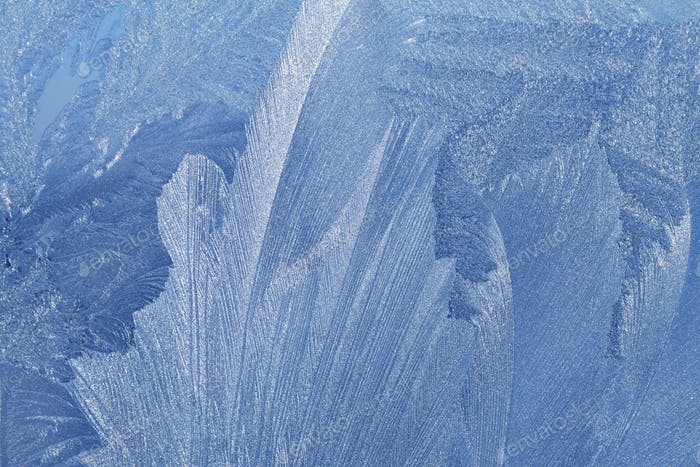 Schönes Eismuster auf Winterglas