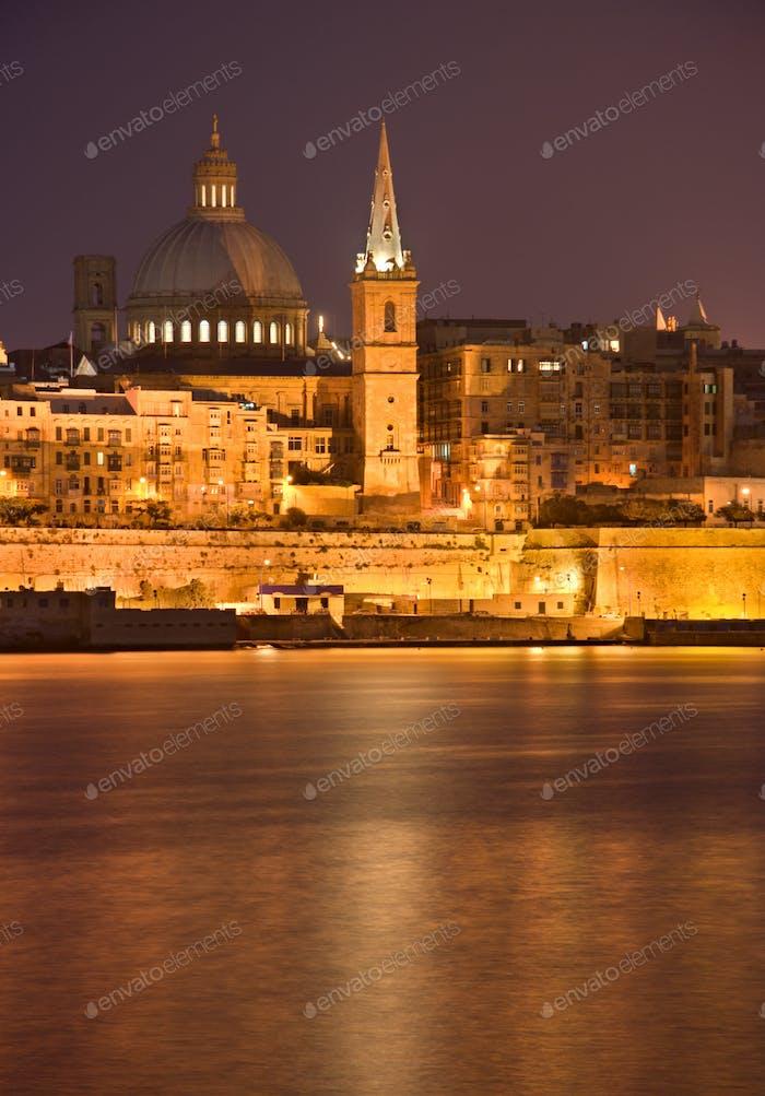 Valletta At Night, Malta