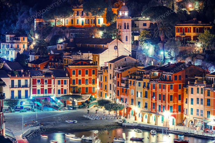 Night in the Portofino Italy