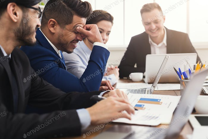 Business meeting. Businesspeople in modern office