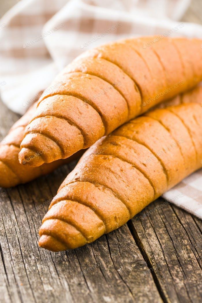 Salty bread rolls.