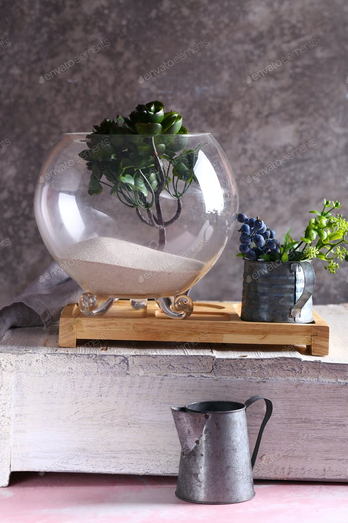 Interior Design with Lively Florarium